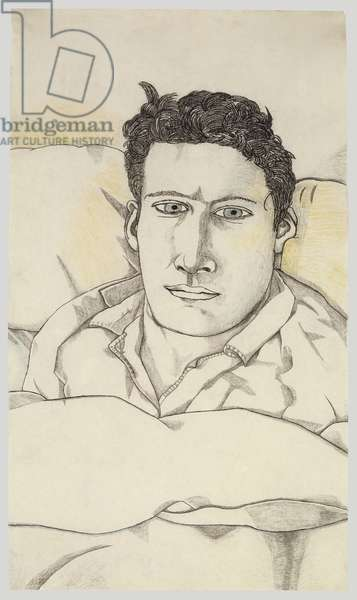 Self Portrait, 1943 (conte and crayon)