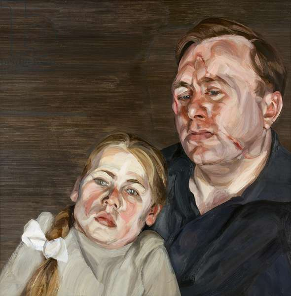 A Man and his Daughter, 1963-64 (oil on canvas)