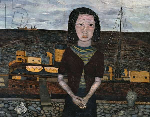 Girl on the Quay, 1941 (oil on canvas)