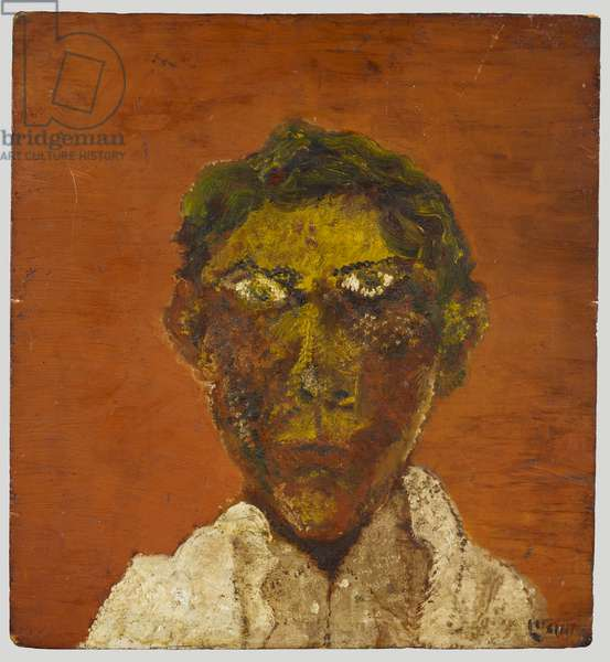 Self-portrait, c.1939 (oil & cement on plywood board)