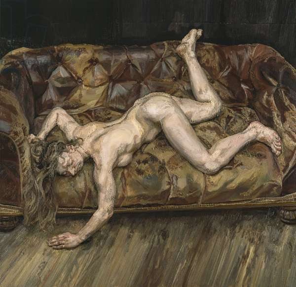 Portrait on Red Sofa, 1993-94 (oil on canvas)
