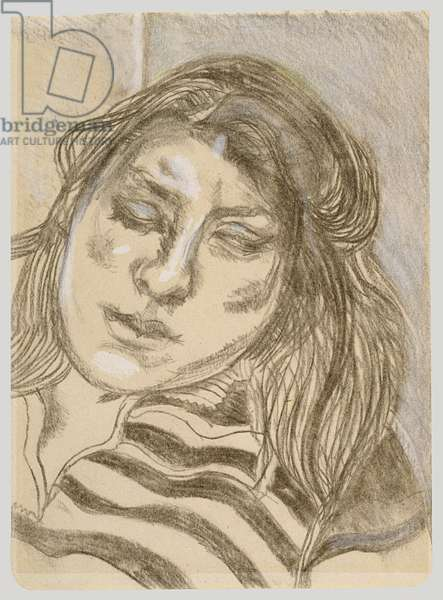 Drawing of Ib, c.1989 (charcoal & crayon on paper)