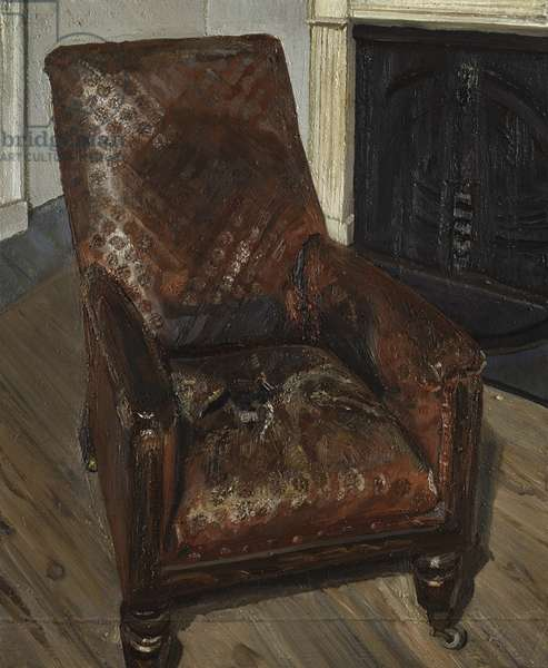 Armchair by the Fireplace, 1997 (oil on canvas)