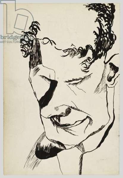 Stephen Spender, 1940 (ink on paper)