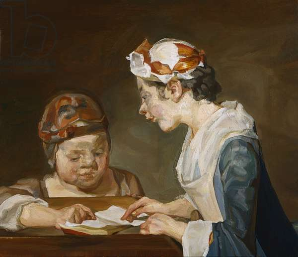 After Chardin, 1999 (oil on canvas)