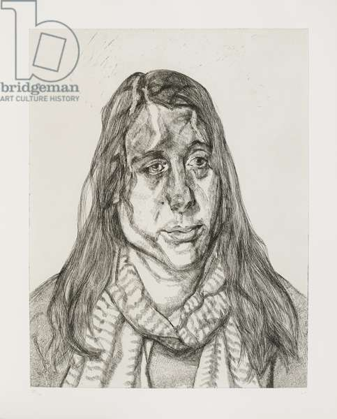 Portrait Head, 2001 (etching)