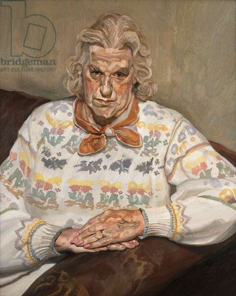 Woman in a Butterfly Jersey, 1990-91 (oil on canvas)