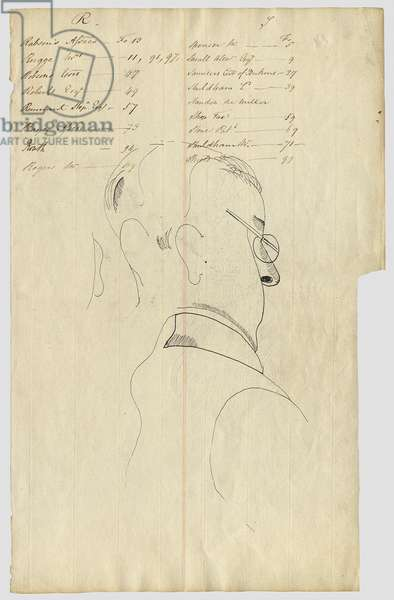 Untitled, c.1942 (pen & ink on paper) (verso of 4001643)