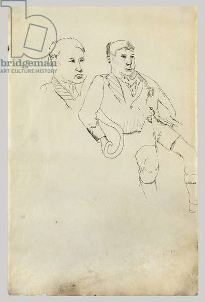 Two Boys, 1941 (pen & ink on paper)