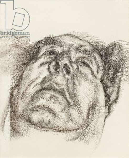 Lord Goodman, 1985 (charcoal on paper)