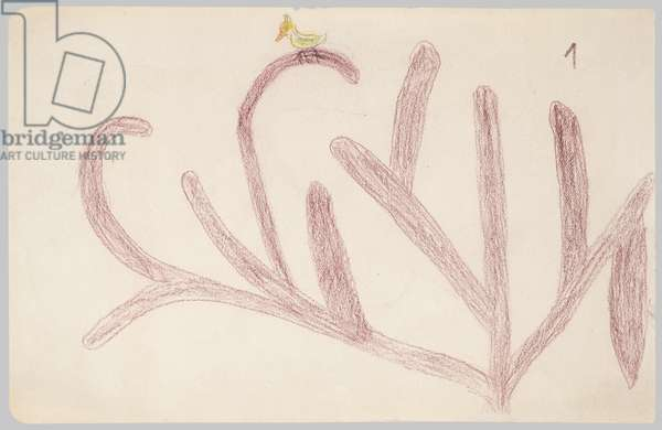 Tree (I), c.1928 (crayon on paper)