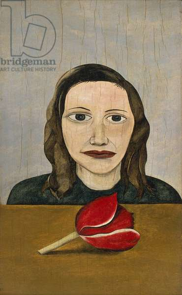Woman with Tulip, 1945 (oil on panel)