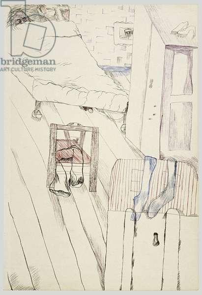 Bedroom with Stolen Socks, 1940 (ink on paper)