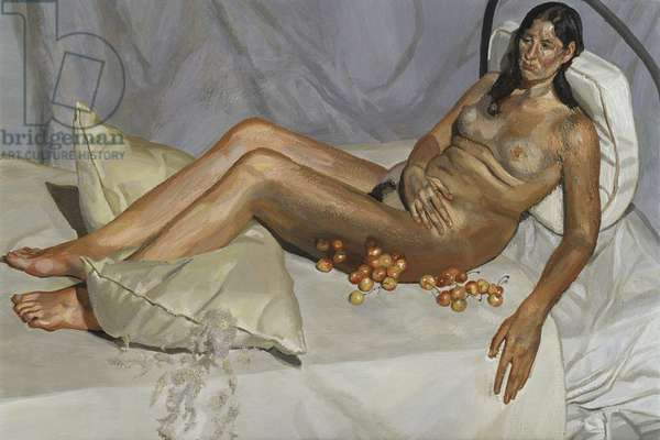 Irish Woman on a Bed, 2003-04 (oil on canvas)