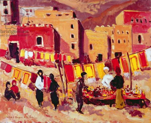 Market in Tamlat (Morocco) 1998 (oil on canvas)