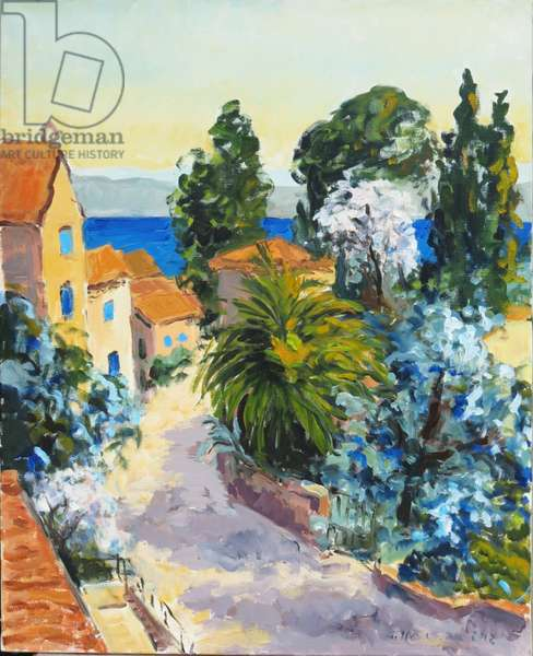 Lane in St Tropez, 2012 (oil on canvas)