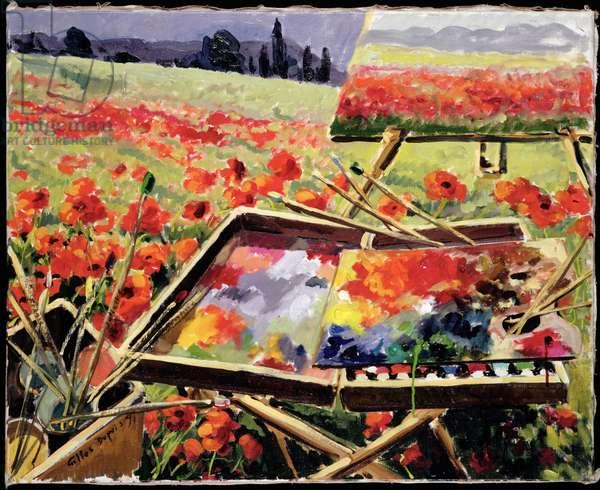 'La Palette Nous Voice', 1991 (oil on canvas)
