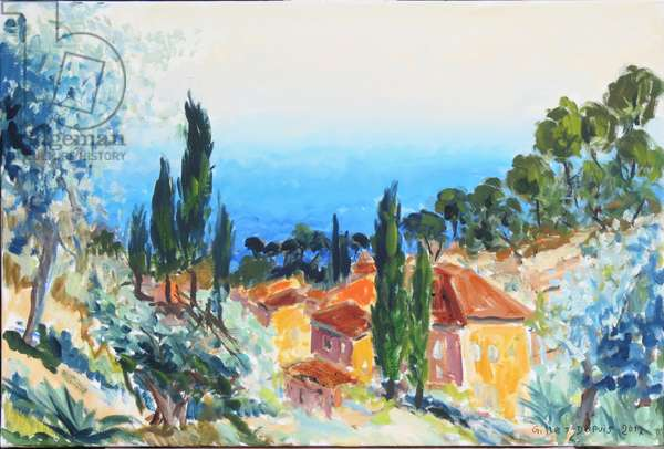 Seaview in Provence, 2017 (oil on canvas)