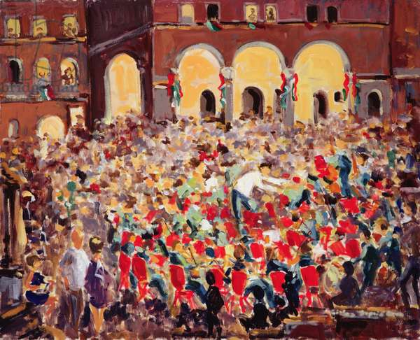The Concert in Pienza, 1999 (oil on canvas)