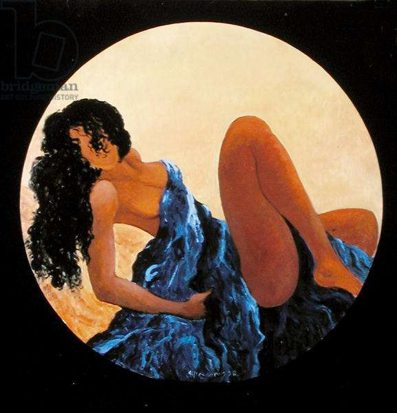 Devetue de Bleu, 1998 (oil on canvas)