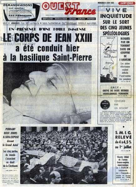 Death of Pope John XXIII