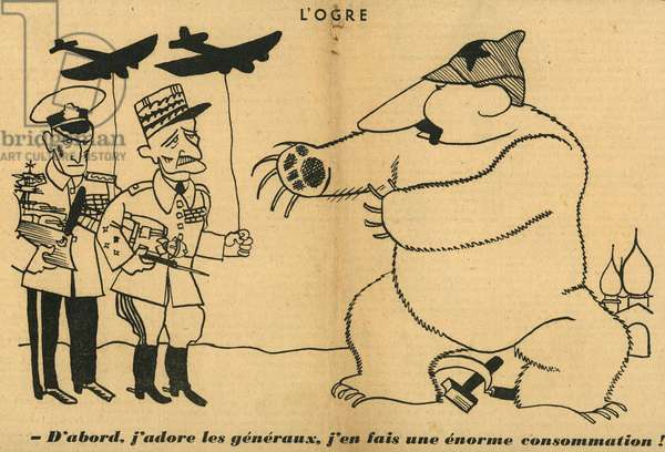 The Ogre Stalin Drawing appeared in the newspaper Gringoire in August 1939