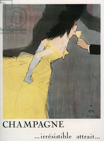 Advertising for champagne, 1949