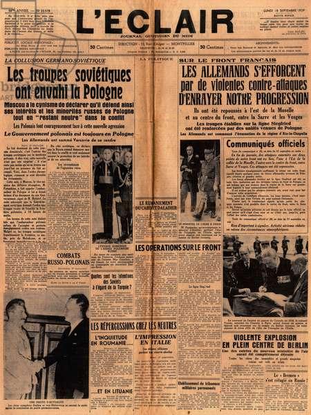 Debut de la guerre, 1939
