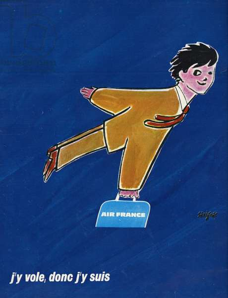 Advertising for Air France Air France Illustration by Raymond Savignac in 1970