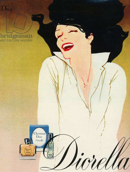 Advertising for the fragrance of Christian Dior