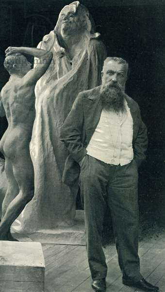 Auguste Rodin 1840 1917 French sculptor Photography from the magazine Illustree in 1899