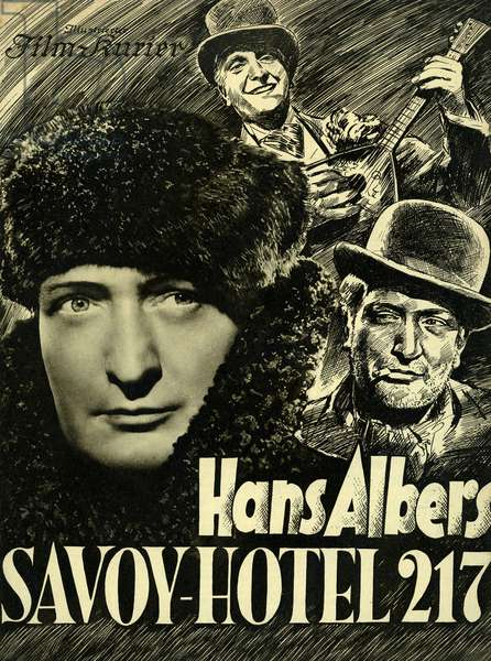 Hans Albers German actor and singer 1891 1960 Wafer of the film Savoy Hotel 217 by Gustav Ucky in 1936 Production UFA