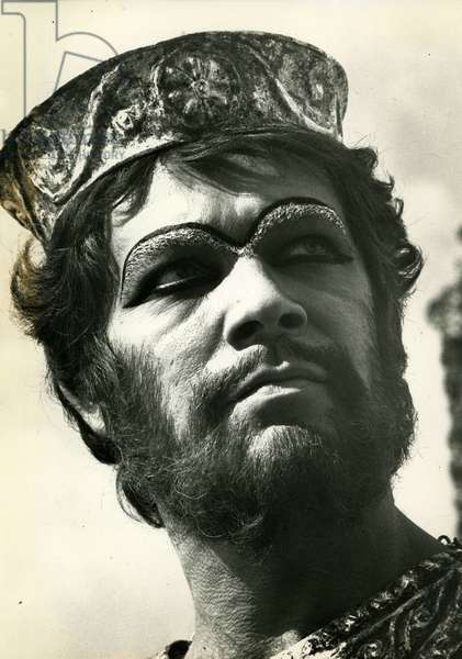 Stephen Boyd British actor 1931 1977 in the role of Nemrod in The Bible film by John Huston in 1966