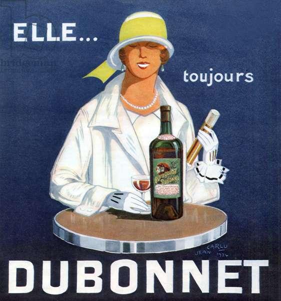 Advertisement for Dubonnet, 1924 (colour litho)