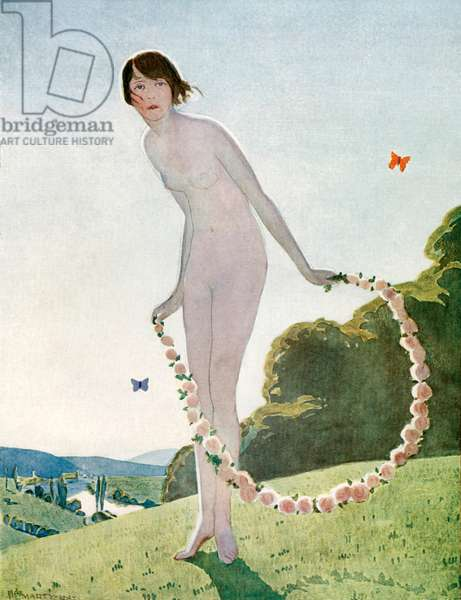 "The ideal woman, illustration ""Comoedia Illustre"", December 20, 1912 (colour litho)"