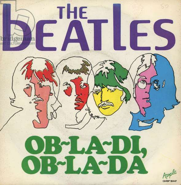 The Beatles pocket with the title Ob la di ob la da 1968