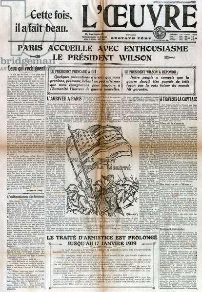 Visite de Wilson a Paris