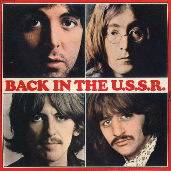 The Beatles album cover with title Back in the USSR 1968