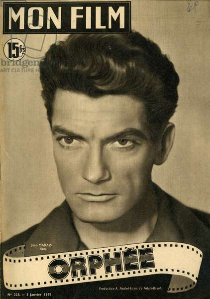 Jean Marais french actor 1913 1998 in Orphee film by Jean Cocteau review Mon film 1951