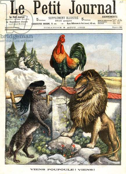 The Wolf, the Lion and the Rooster