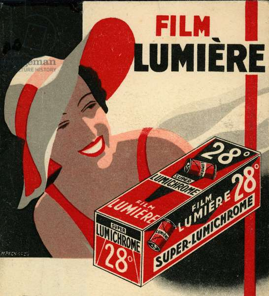 Photo pouch of the film brand Lumiere around 1930
