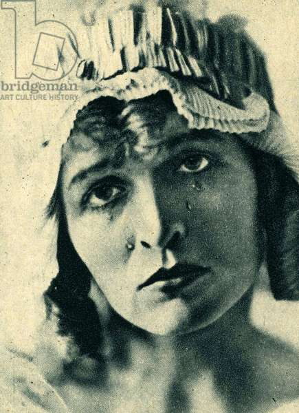 Marguerite Gance 1894 1986 French actress in the role of Charlotte Corday in the film Napoleon d Abel Gance in 1927 Photograph from the Collection of the film at Plon editions in 1929