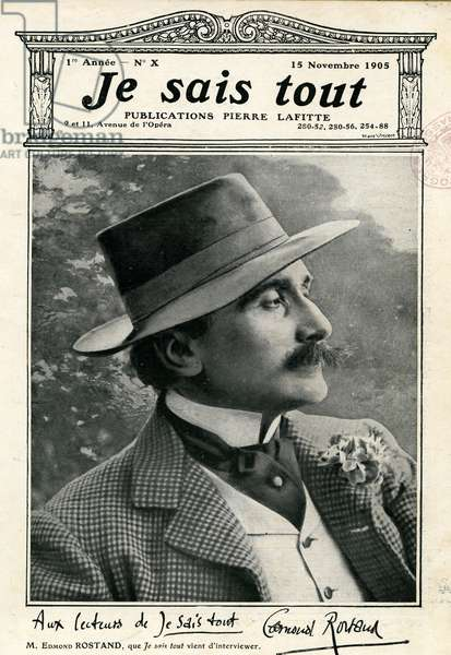 Edmond Rostand 1868 1918 French poete and playwright Cover of the magazine Je sais tout en 1905