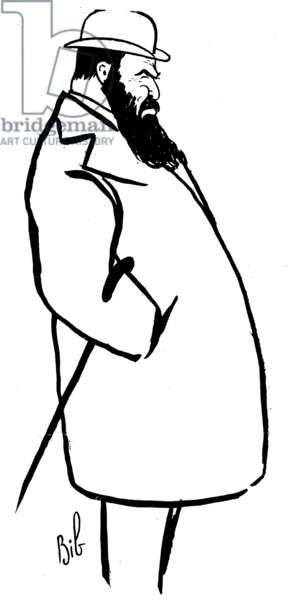 "Tristan Bernard, published in French newspaper ""Bravo"", 1911 (litho)"