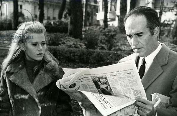 Michel Piccoli and Jane Fonda in The Curee Film by Roger Vadim in 1966 from the book La Curee d Emile Zola