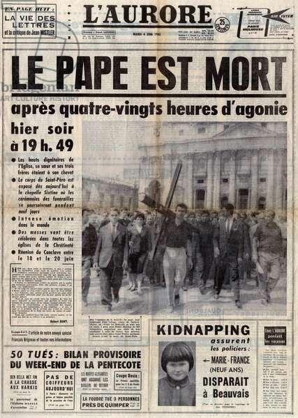 Death of John XXIII