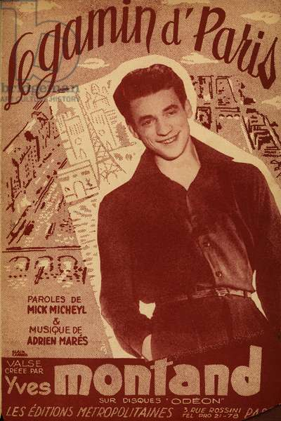 sheet music Le gamin d'Paris by Yves Montand 1951
