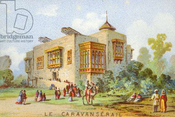 Universal Exhibition of Paris in 1867 The Caravanserail popular imagery