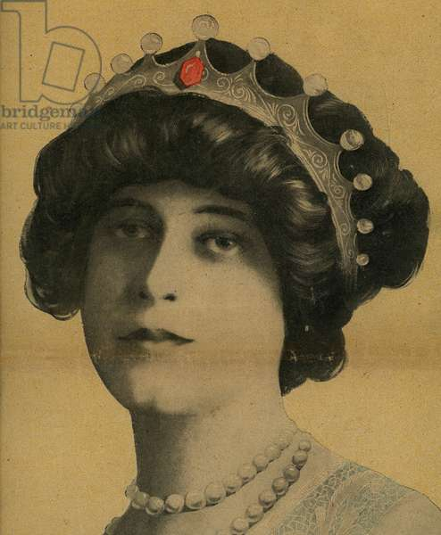 Madame John Jacob Astor Rescued from the sinking of the Titanic in the night of 14 to 15 April 1912 Cover of the weekly Le Mirror of 28 April 1912