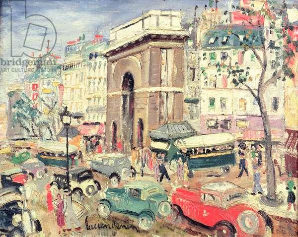 La Porte St. Martin (oil on canvas)